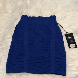 Royal Blue Pencil Skirt Size XS